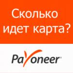 Сколько времени занимает доставка карты Payoneer?