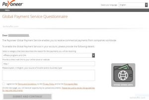payoneer questionarry
