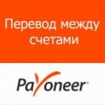 Payoneer. Перевод между счетами